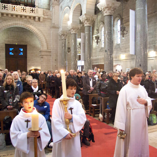 Célébration dans la Basilique Saint-Martin de Tours